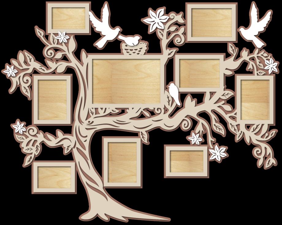 Семейное дерево с фоторамками 98