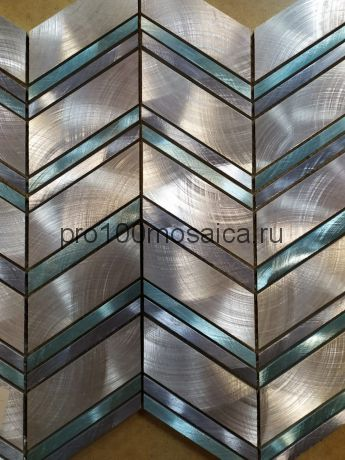 AL056. Мозаика серия Металл чип 30*88 размер, мм: 275*297*8 (Happy Mosaic)