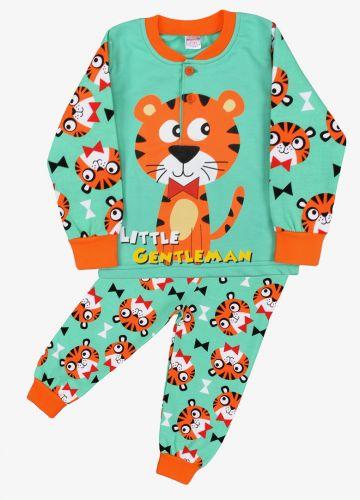 Пижама с начесом, для мальчиков 2-6 лет BN922 мятный