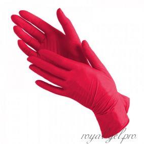 Перчатки нитриловые красные 1 шт.