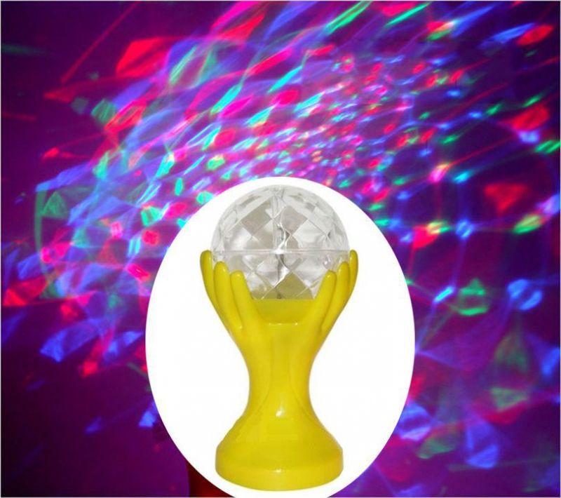 Декоративный LED-светильник Шар В Руках, 18 см, цвет желтый