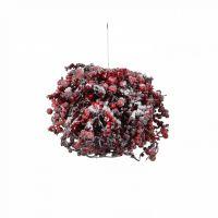 Шар с ягодами диам. 25 см красный в снегу
