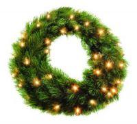 Триумф венок Лесная Красавица 60 см 72 лампы зеленая