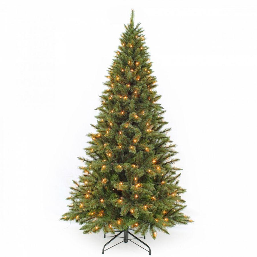 Искусственная елка Лесная Красавица стройная 230 см 304 лампы зеленая