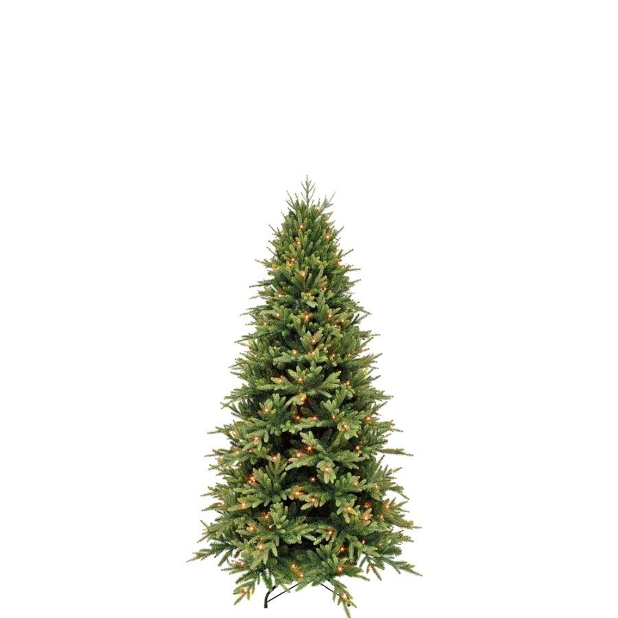 Искусственная елка Королевская стройная 215 см 256 ламп зеленая