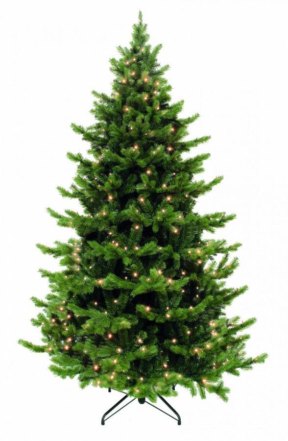 Искусственная елка Шервуд премиум 215 см 288 ламп зеленая