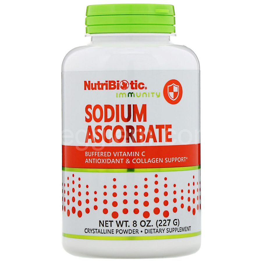 Витамин С, Sodium Ascorbate, Crystalline Powder Nutribiotic, (454g)
