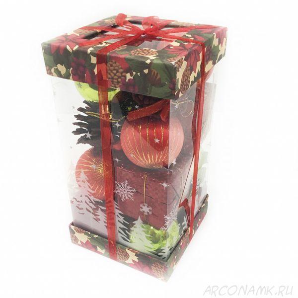 Подарочный набор ёлочных украшений Шары и подарки 6 см, 16 шт