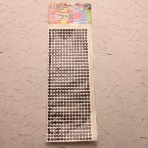 Стразы(бусины) клеевые на листе 9*25см (1уп = 5шт), Арт. СТЛ0014-8