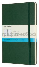 Книжка зап.Moleskine Large Classic пунктир зеленая QP066K15