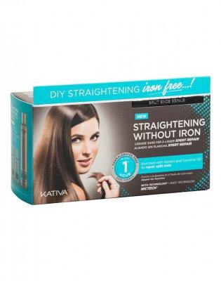 Набор для выпрямления волос «Восстановление» для волос с секущимися кончиками IRON FREE Kativa