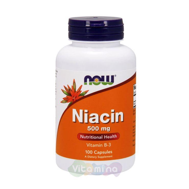 Ниацин (Витамин В3) 500 мг, 100 капс.