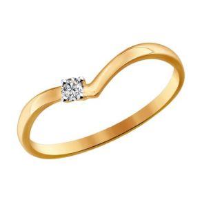 Помолвочное кольцо из золота со Swarovski Zirconia 81010213 SOKOLOV