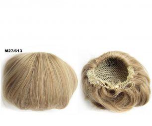 """Искусственные термостойкие волосы - Шиньон """"Бабетта"""" #M27/613, вес 80 гр"""