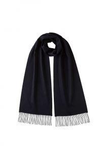 Однотонный кашемировый шарф (100% драгоценный кашемир), цвет Глубокий Синий DARK NAVY CLASSIC cashmere, высокая плотность 7