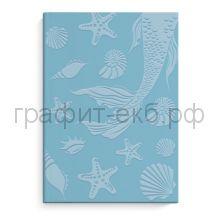 Книжка зап.Феникс+ А6+ Морская фактура интегральный переплет 96л.линейка голубой блок 50267