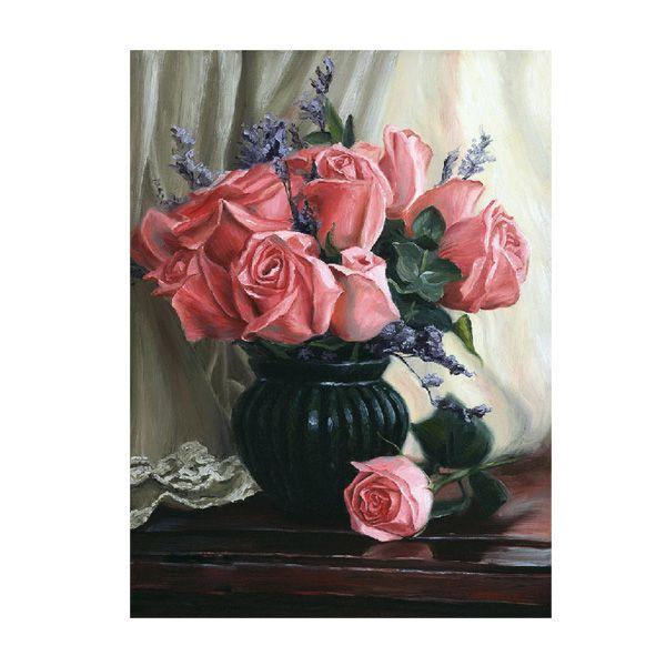 Картина по номерам Розы 15*20см