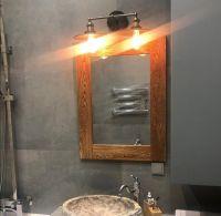Рама для зеркала из дуба пропитана тунговым маслом с воском Сигма-Колор