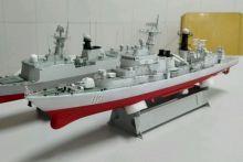 Сборная модель Циндао № 113 ракетный эсминец военный корабль 1:350
