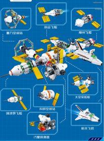 Конструктор Космическая станция 8 в 1  Lego реплика 511 деталей