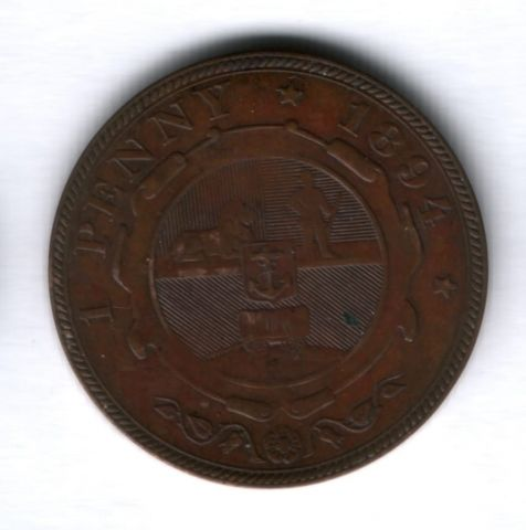 1 пенни 1894 года Южная Африка, редкий год XF