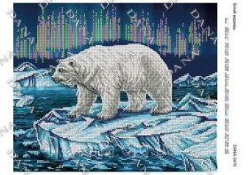 Dana DANA-3470. Белый Медведь схема для вышивки бисером купить оптом в магазине Золотая Игла