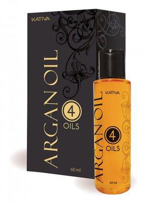Защитный концентрат для волос восстанавливающий «4 масла» ARGAN OIL Kativa, 60 мл.