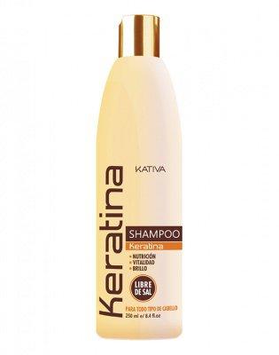 Шампунь для всех типов волос кератиновый укрепляющий KERATINA Kativa, 250 мл.