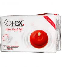 Прокладки Kotex 7шт Ultra Dry&Soft ночные сеточка