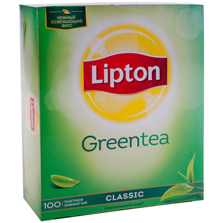 Чай Липтон зеленый 100пак.*1,3г