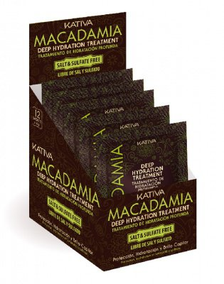 Маска для нормальных и поврежденных волос MACADAMIA Kativa, 35 гр.*12 шт.
