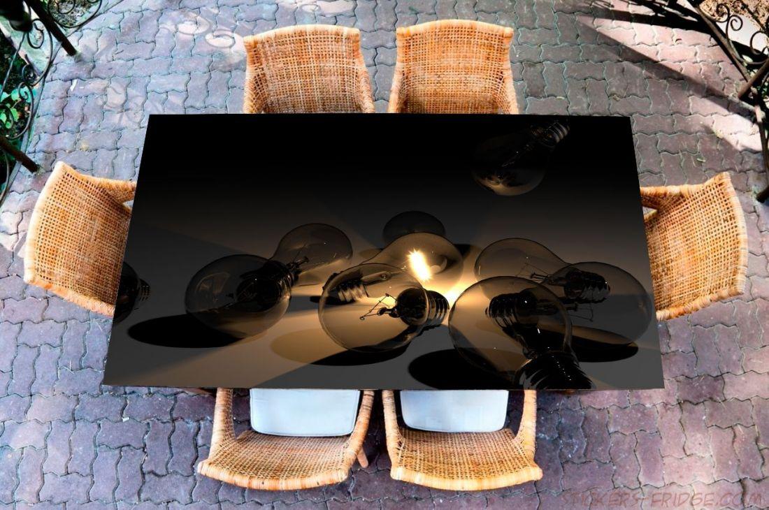 Наклейка на стол - Лампочки