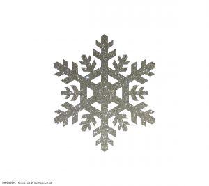 Вырубка ''Снежинка-2, 8 см'' , глиттерный фоамиран 2 мм (1уп = 20шт)