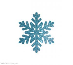 Вырубка ''Снежинка-3, 5 см'' , глиттерный фоамиран 2 мм (1уп = 20шт)