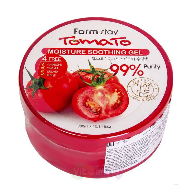 FarmStay Многофункциональный гель с экстрактом томата Tomato Moisture Soothing Gel, 300 мл