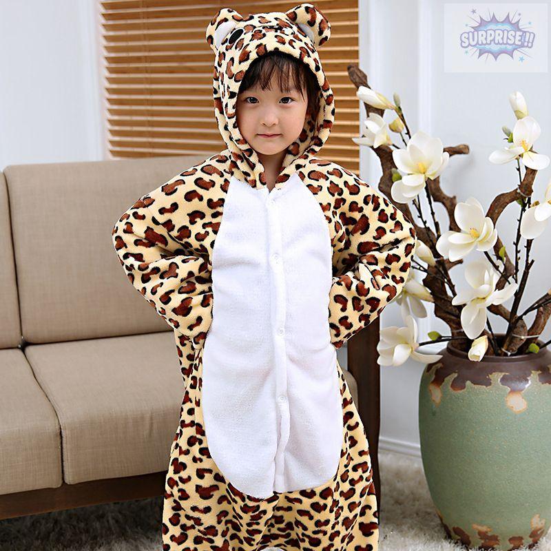 Кигуруми пижама-комбинезон Леопард