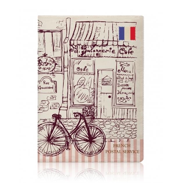 Обложка для паспорта Парижское кафе