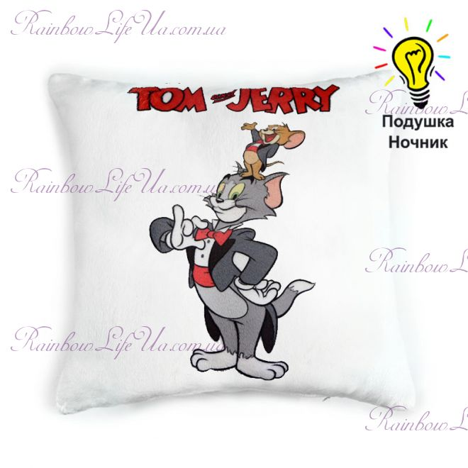 """Подушка светящаяся """"Том и Джерри"""""""