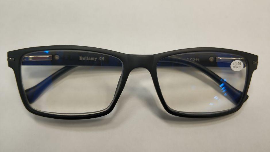 Компьютерные очки с диоптриями Bellamy 8003 (Blue Blocker)