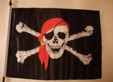 Флаг Пиратский Веселый Роджер 150х95 см