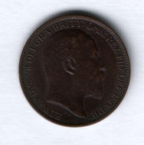 1 фартинг 1906 года Великобритания XF