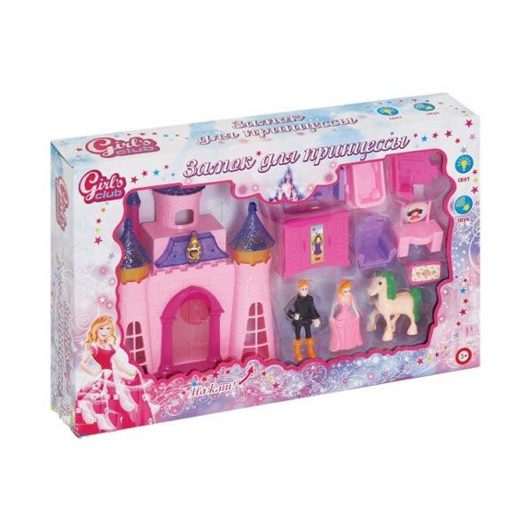 "Замок для кукол ""Girl's club"" с аксес. Звук. и свет. эффекты. Батарейки в комплекте, в/к 39,5х6,5х25 см."
