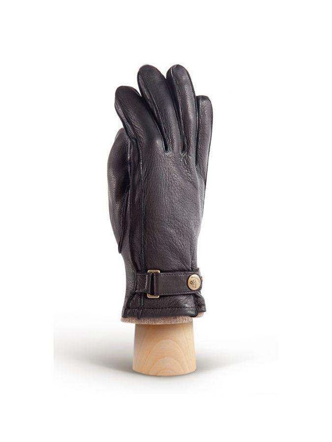 Черные мужские перчатки ELEGANZZA