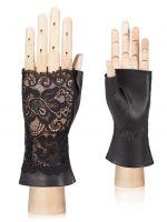Кожаные перчатки без пальцев ELEGANZZA