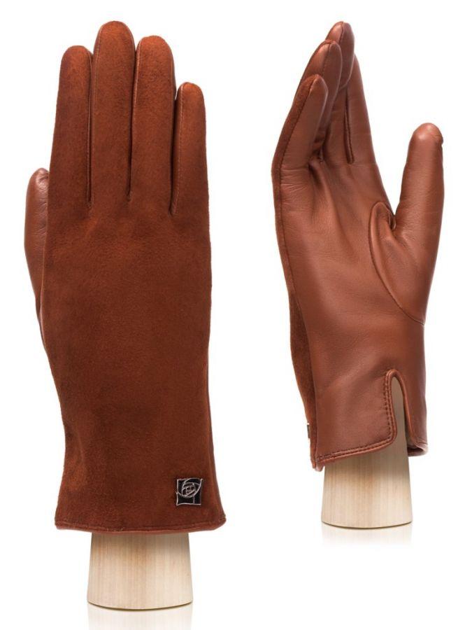 Женские велюровые перчатки ELEGANZZA