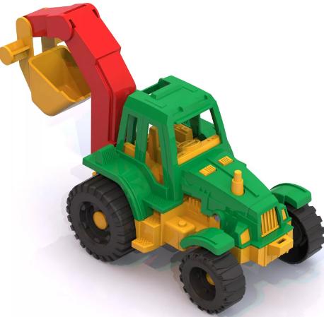 """Трактор """"Ижора"""" с ковшом, 13*11*17 см"""
