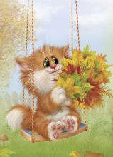 Postcard Autumn bouquet
