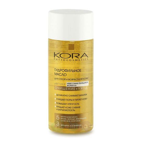 """KORA Гидрофильное масло для сухой и возрастной кожи """"Очищение + Уход"""", 150 мл"""