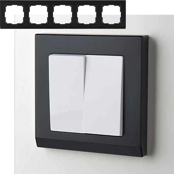 Рамка на 5 постов Werkel WL04-Frame-05 Черный
