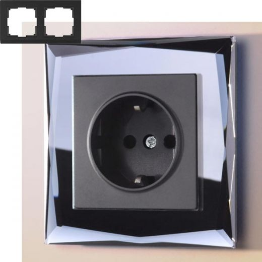 Рамка на 2 поста Werkel WL08-Frame-02 Черный